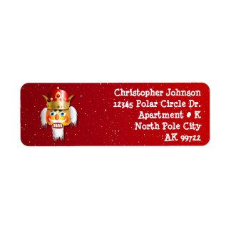 Etiqueta Rei personalizado do Nutcracker do Natal