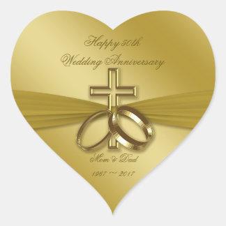 Etiqueta religiosa do aniversário de casamento do