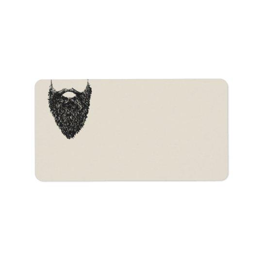 Etiqueta Respeite o endereço do remetente vazio da barba  