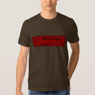 etiqueta restrita t-shirt