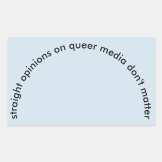 Etiqueta reta das opiniões