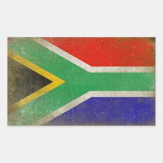 Etiqueta retangular com a bandeira de África do Adesivo Retangular