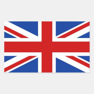 Etiqueta retangular de Union Jack