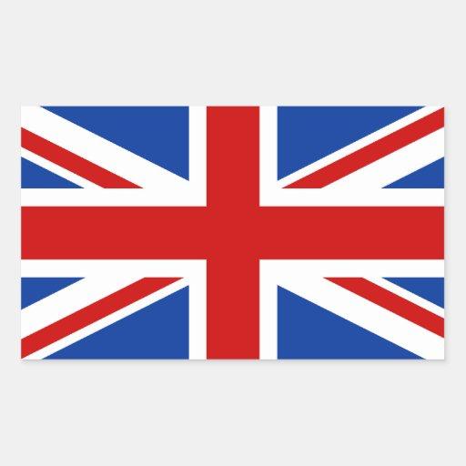 Etiqueta retangular de Union Jack Adesivos Em Formato Retangulares
