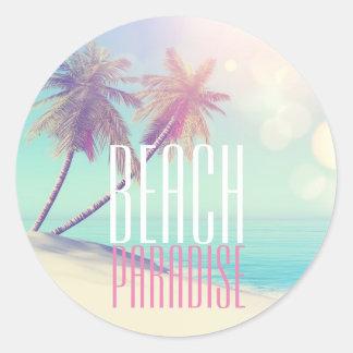 Etiqueta retro bonita da palmeira | do paraíso da