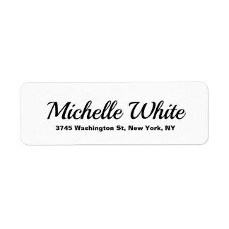 Etiqueta Retro corajoso preto & branco minimalista elegante