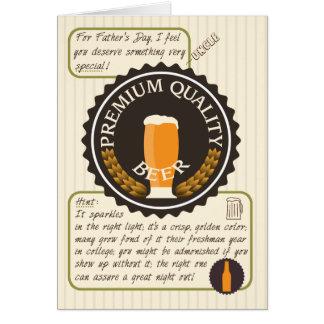 Etiqueta retro da cerveja do dia dos pais cartão