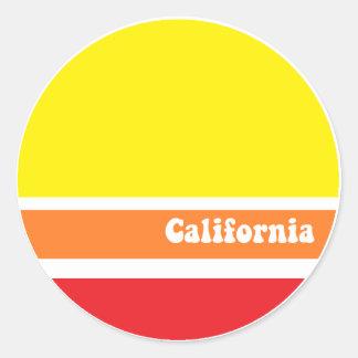 Etiqueta retro de Califórnia Adesivo