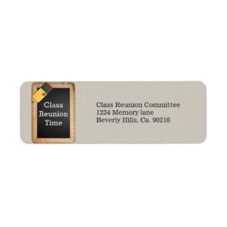 Etiqueta Reunião de classe do quadro das fontes de escola