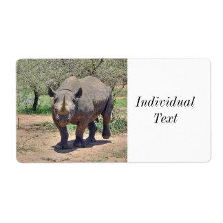 Etiqueta rinoceronte