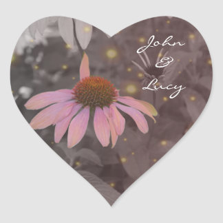 Etiqueta romântica cor-de-rosa da flor da