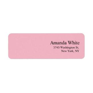 Etiqueta Rosa pálido feminino moderno minimalista elegante