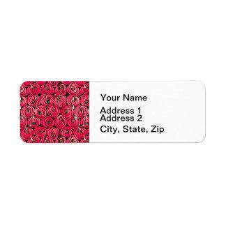 Etiqueta Rosas florais do nouveau da arte