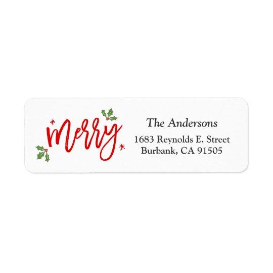 Etiqueta Roteiro escrito do Feliz Natal mão elegante
