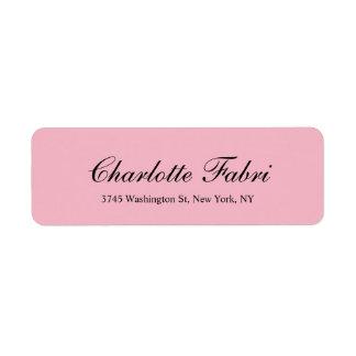 Etiqueta Roteiro rosa pálido clássico profissional
