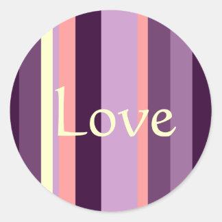 Etiqueta roxa cor-de-rosa do casamento do selo do adesivo