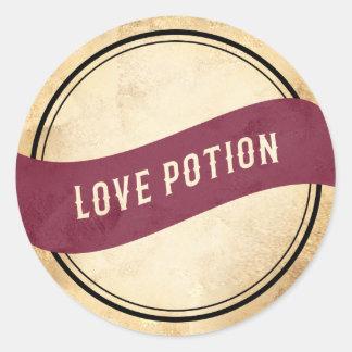 Etiqueta roxa da poção de amor do apothecary do