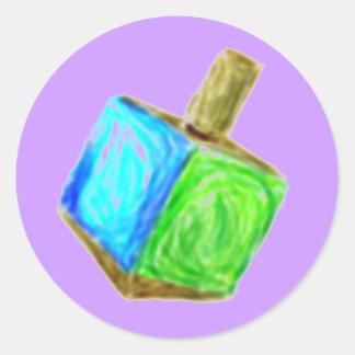 Etiqueta roxa de Dreidel