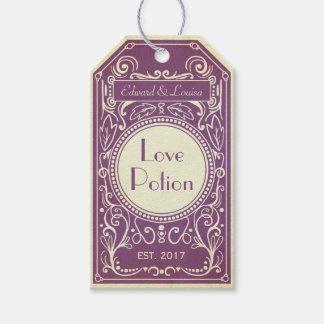 Etiqueta Para Presente Etiqueta roxa do apothecary da poção de amor do