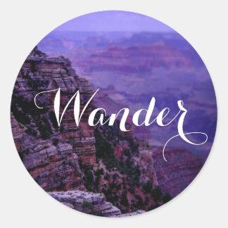 Etiqueta roxa do Grand Canyon