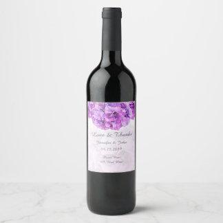 Etiqueta roxa do vinho da coleção do casamento do