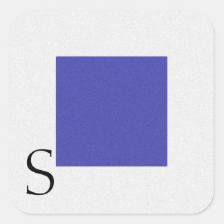 Etiqueta S do alfabeto da bandeira de sinal