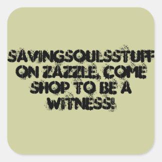 Etiqueta/savingsoulsstuff do evangelismo em adesivo quadrado
