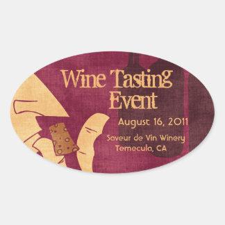 Etiqueta Savoring do vinho Adesivos Ovais