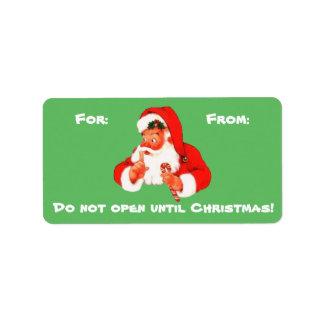 Etiqueta secreta do Tag do presente do Natal do