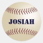 Etiqueta/selo do basebol de Josiah Adesivo Redondo
