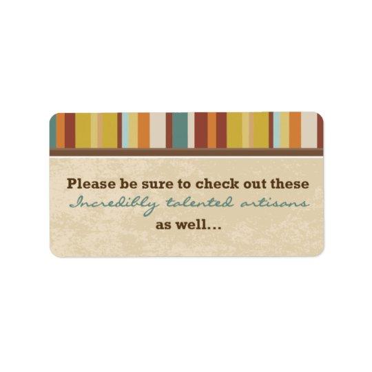 Etiqueta Selo do malote do cartão de visita (para eventos)