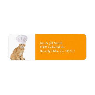 Etiqueta Senhor Gato Cozinheiro chefe Você