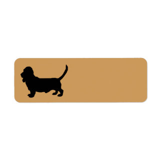 Etiqueta Silhueta do cão de Basset Hound