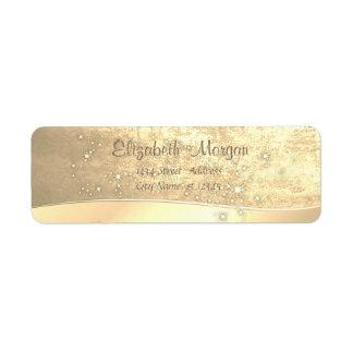 Etiqueta Simples chique elegante, falso ouro, faísca