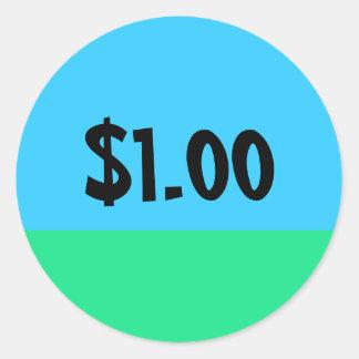 Adesivo Redondo Etiqueta simples do preço - customizável
