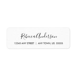 Etiqueta Simples e elegante preto e branco