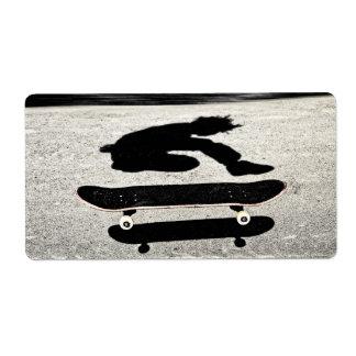 Etiqueta skate imprensado