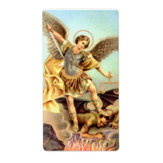 Etiqueta St Michael a armadura da espada do arcanjo