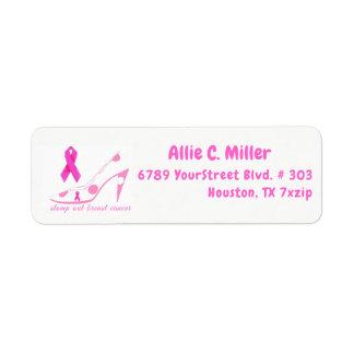 Etiqueta Stomp para fora a fita cor-de-rosa do cancro da