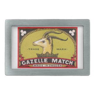 Etiqueta sueco da caixa de fósforos da gazela
