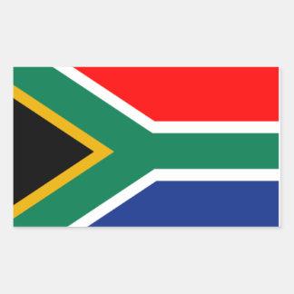 Etiqueta sul - bandeira africana adesivos retangular