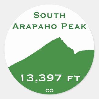 Etiqueta sul do pico do Arapaho Adesivo