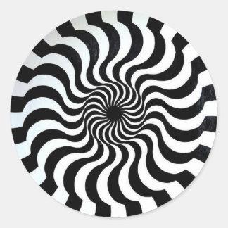 etiqueta surpreendente da ilusão óptica