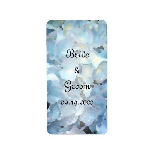 Etiqueta Tag azuis do favor do casamento do Hydrangea