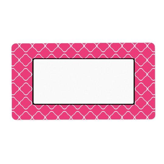 Etiqueta/Tag cor-de-rosa brilhantes da treliça Etiqueta De Frete
