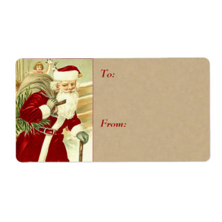 Etiqueta Tag do presente do natal vintage - grandes