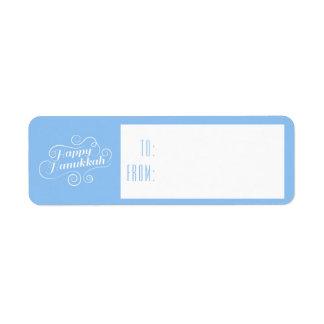 Etiqueta Tag felizes do presente do Flourish de Hanukkah