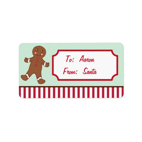 Etiqueta Tag personalizados do presente do Natal do