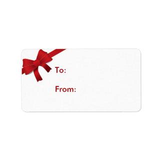 Etiqueta Tag vermelho do presente do Natal do arco