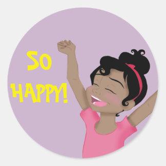 "Etiqueta ""tão feliz"" de ClaraBelle"